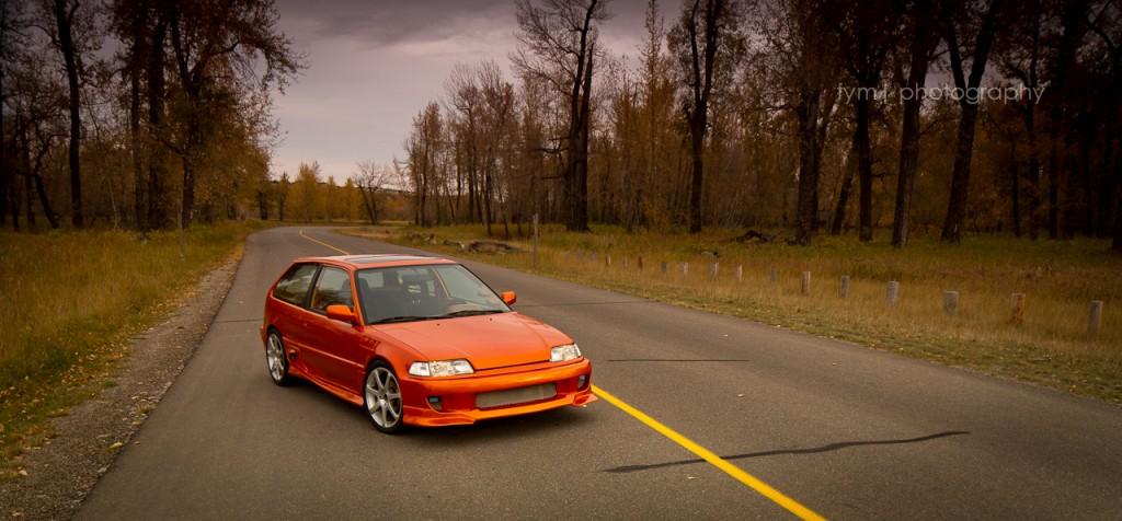 90civicrider - 1990 Honda Civic H/B Front View