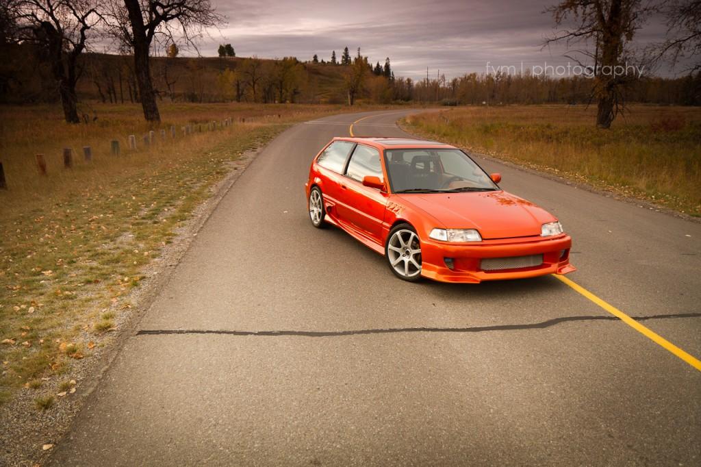 90civicrider - 1990 Honda Civic H/B Front Angle View