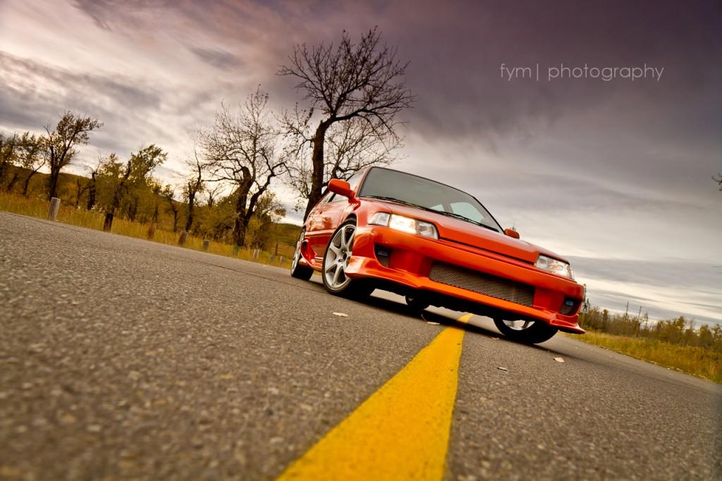 90civicrider - 1990 Honda Civic H/B Front Ground Shot