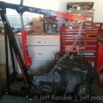 B18a1 Engine on Hoist