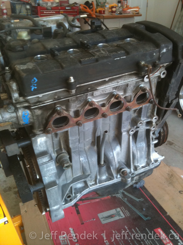 ls vtec engine build dis assembly of the b18a block