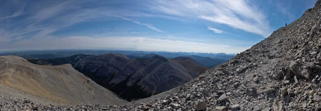 Panorama from the Moose Mountain Summit Pass