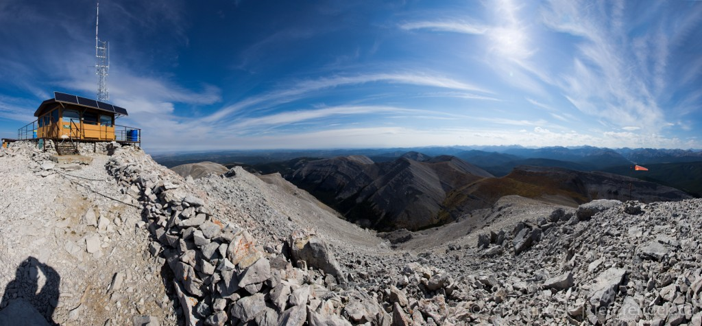16-Image Panorama of the Moose Mountain Fire Lookout